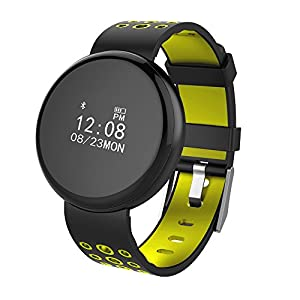 Jersh Electronic Smart Watch,Fitness Tracker Blood Pressure Heart Rate Activity Tracker Smart Sports Watch Round Dial Analogue Display Multifunction Fashion Bluetooth Smart Bracelet