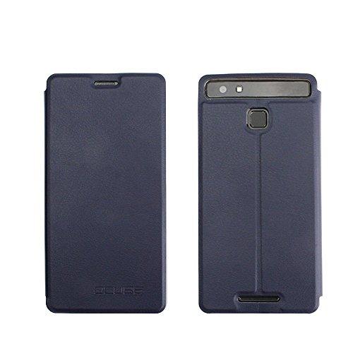 Tasche für Vernee Thor E Hülle, Ycloud PU Ledertasche Metal Smartphone Flip Cover Case Handyhülle mit Stand Function Marineblau