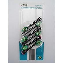 6 cabezas de cepillo/cepillos de recambio QUIGG para Cepillo Dientes Eléctrico cepillos de recambio