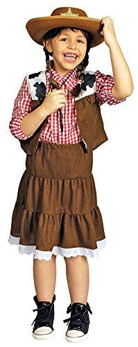 Körner Festartikel Cowgirl Jeana Kostüm für Mädchen Gr. 116 128 - Tolles Wild West Kostüm für Kinder
