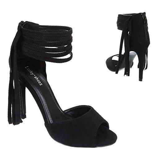 Ital-Design, Scarpe col tacco donna 37 Nero (nero)
