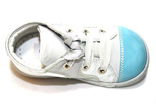 Cherie Kinder Baby Schuhe Mädchen Jungen Stiefeletten 0336 (ohne Karton) Grau/Blau