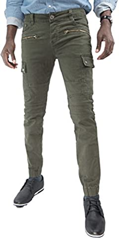 Pantalon Kaki cargo Vert skinny TMP Fashion Collection BB1063_2_Q_FR40 US30