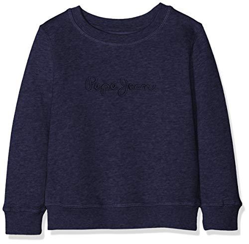 Pepe Jeans Jungen Crew Neck Boys Sweatshirt, Blau (Navy 595), 2 Jahre (Herstellergröße: 2)