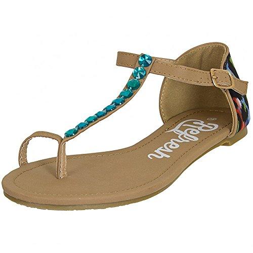 Refresh Shoes - Scarpe con cinturino alla caviglia Donna , Nero (Marrone), 38