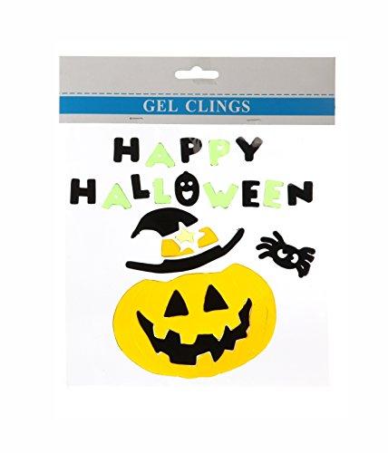 Preis am Stiel Halloween Gel Fensterdeko Halloween   Party   Deko   Kürbis