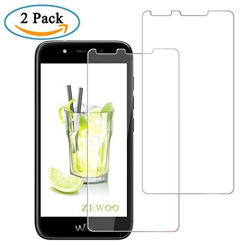 Zewoo per wiko wim lite (5 pollici) 2 pacchi pellicola protettiva vetro temperato protezione proteggi schermo