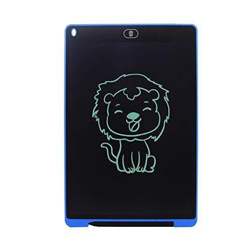 LASTARTS Lavagna LCD da 12 Pollici Lavagna da Disegno da Tavolo da Disegno graffetta con Blocco Note a Mano Spessa Scrittoio Boogie Board (Colore : Blu)