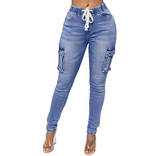 Epig Clearance Damenmode Daily Hight Waisted Denim Jeans Stretch Slim Hosen Länge Jeans -