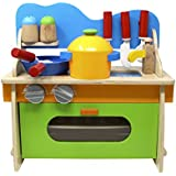 Lewo Creative Cook's Corner Juguetes de cocina de juguete de madera Set