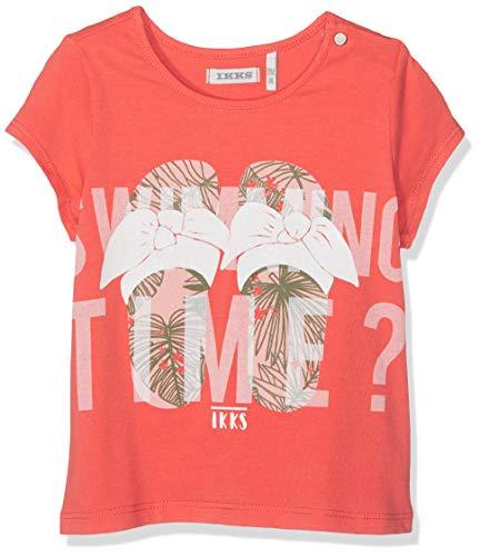 IKKS Junior T Shirt Rouge Clair Claquette 35, 9-12 Mois (Taille Fabricant:12M) Bébé Fille