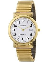 Regent Herren-Armbanduhr XL Analog Edelstahl beschichtet 11300022