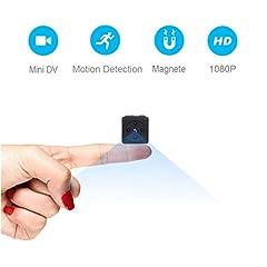Idea Regalo - Mini Telecamera Spia Nascosta,NIYPS Full HD 1080P Portatile Micro Spy Cam Sorveglianza con Visione Notturna,Sensore di Movimento y Batteria,Senza Fili Piccola Microcamere Spia per Esterno/Interno