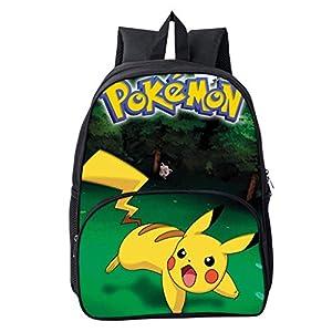 41ce5kSFQ2L. SS300  - Mochila Pokemon para niños, adolescentes y niñas, 3D Galaxy, Detective Pikachu Eevee, mochila para portátil, mochila de…