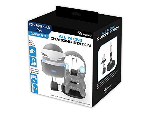 Subsonic All In One Stazione Di Ricarica - Archiviazione per PS VR /Dualshock 4/PS Move/PlayStation 4