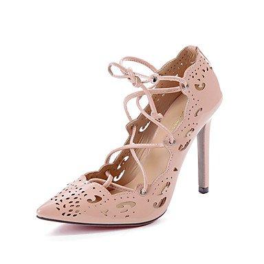 Moda Donna Sandali Sexy donna tacchi Primavera / Estate / Autunno Slingback PU Wedding / Esterni / Ufficio & Carriera / Party & sera abito / / Casual Stiletto Heel almond