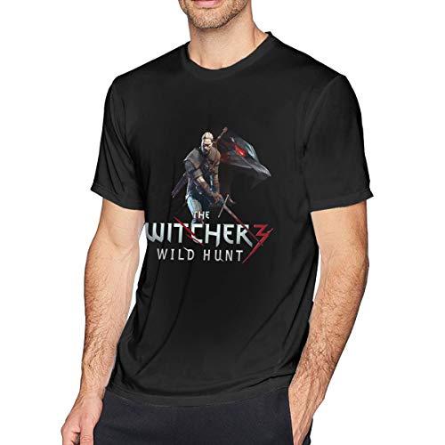 Wuyouhua The Witcher - Camiseta de Manga Corta para Hombre, Color Negro Negro Negro (XL
