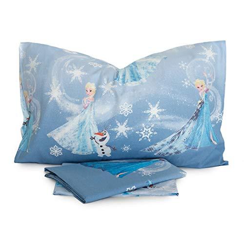 Completo Lenzuola Frozen Disney Azzurro per Letto Singolo T103