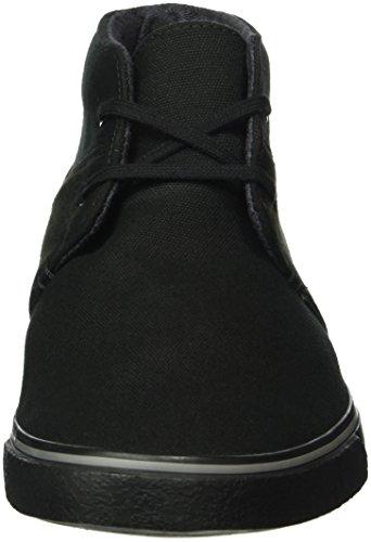 Clarks Herren Gosling Mid Chukka Boots Schwarz (Black Combi Fabric)
