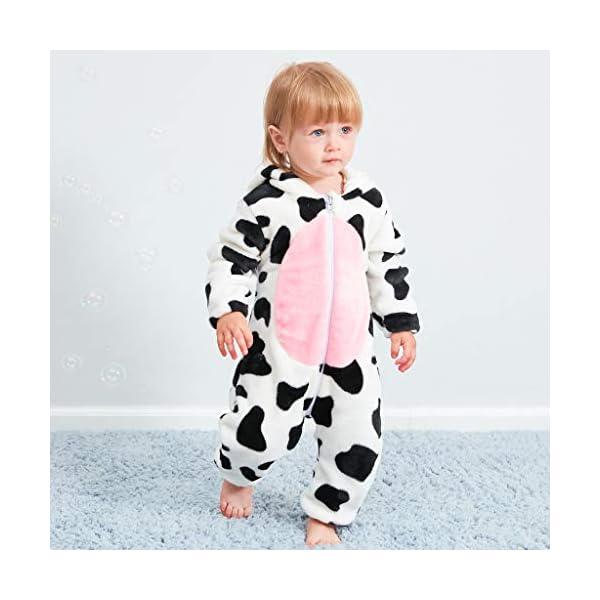 Pijama para Bebé Niña Niño Franela Bolsa Saco de Dormir de Mangas Largas Espesar Mameluco con Capucha Peleles algodón… 3