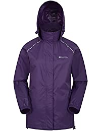 Mountain Warehouse Pakka Womens Jacket – Waterproof Rain Coat, Packable Casual Jacket, Breathable, Lightweight, Comfortable Ladies Coat – For Travelling, Walking