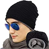 DELHITRADERSS® Men's/Womens's Soft Lined Thick Knit Skull Cap Warm Winter Slouchy Beanies Hat