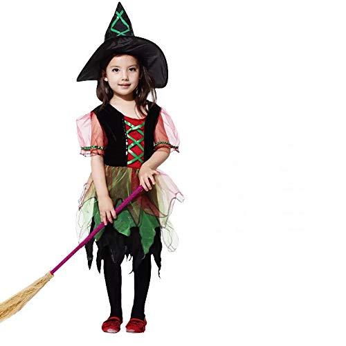 Hexen Kostüm-Set für Kinder - perfekt für Fasching, Karneval & Cosplay - Verschiedene Größen (XL) ()