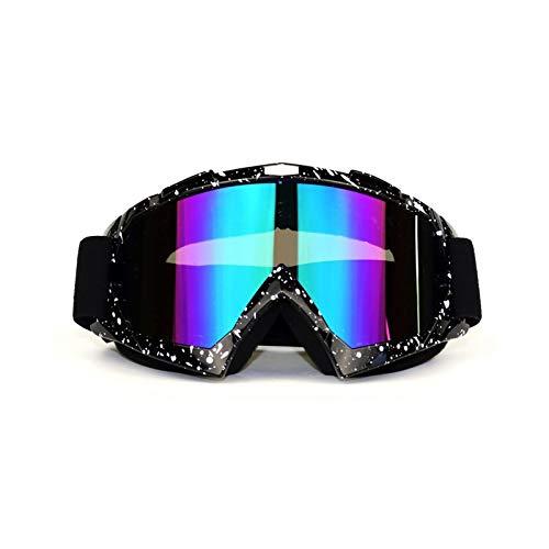 Adisaer Sportsonnenbrille Wassersport Off Road Motorrad Rennbrillen Outdoor Schutzbrille Windschutzbrille Skibrille Black White Colorful Damen Herren
