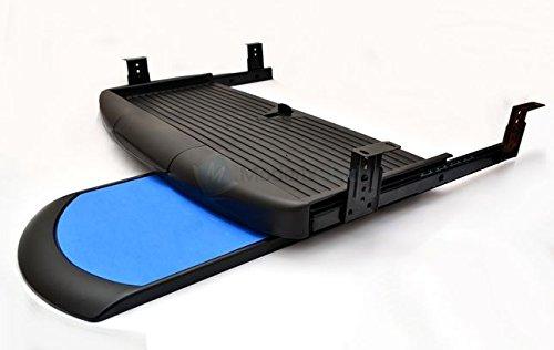 GTV Schreibtisch Computer Tastatur mit mausfach, Regal, ausziehbarer Schublade, komplettes Set, Schwarz