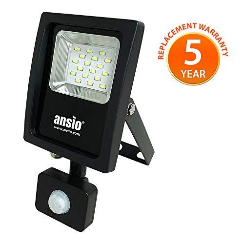 LED Flood luce 10W sensore PIR 90 W alogeni equivalenti IP65 Indoor & Outdoor proiettore adatto per casa, ufficio, giardino, caPannone, portico, garage, prati, front/back Yards