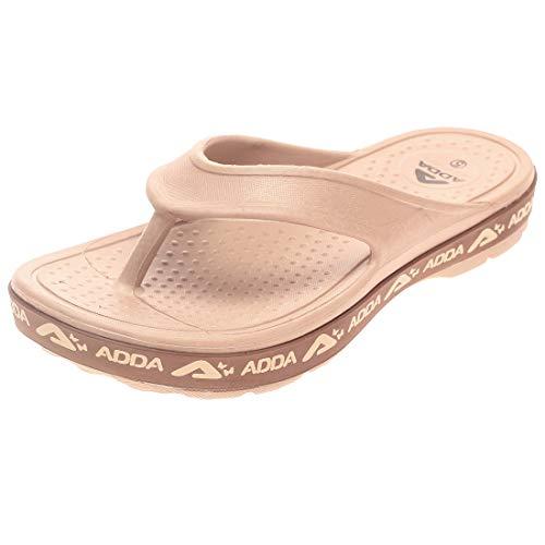 Adda Women's Brown Synthetic Slipper - 5 UK/in