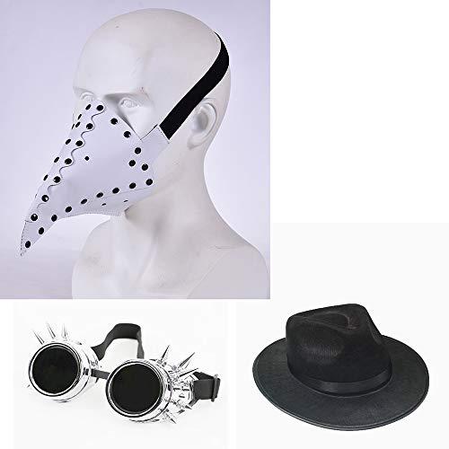 ZMDHL Pest Doktor Maske Halloween Prop Kleidung Steampunk Gothic Cosplay Vintage Leder Vogel - Clown Auf Der Stadt Kostüm