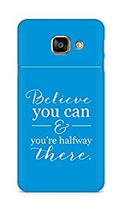 AMEZ believe you can and you are there halfway Back Cover For Samsung Galaxy A3 (2016 EDITION)