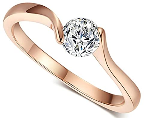 SaySure - 18K Rose Gold Plated Austrian Crystals Full Sizes (SIZE : 9)