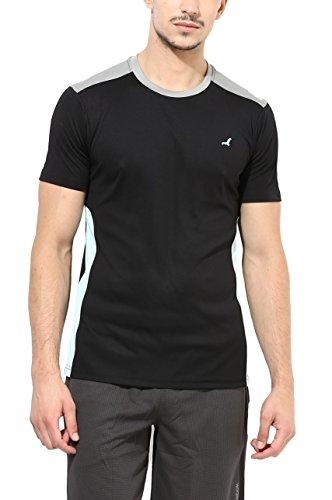 American Crew Round Neck Sports Black T-Shirt - M (AC401-M)
