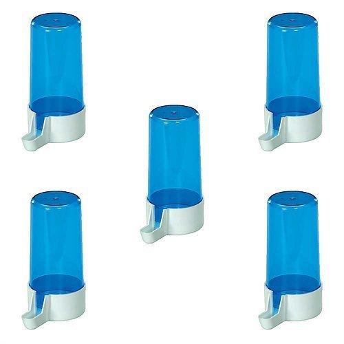 Pet Ting Blu Drinker 13cm 200CC-Abbeveratoio per fringuelli Canarini Budgie ECT (Confezione da 5)