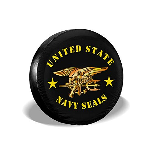 Vinyl Rim Guard (best& United State Navy Seals Polyester Universal Spare Wheel Tire Cover Wheel Covers Jeep Trailer Rv SUV Truck Camper Travel Trailer Accessories 16 Inch)