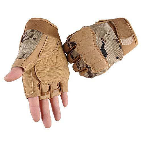 QIMANZI Outdoor Handschuhe Herren Taktische Trainings Motorradhandschuhe Kletterhandschuhe Vollfinger Fingerlose Gloves Wander Klettern Motorrad Fahrrad Radsport Arbeiten(D) (Offizielle Scream Kostüm)
