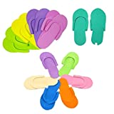 Lankater 12Pairs Salon Spa Disposable Foam Slippers Foam Slipper for Pedicure Use Pedicure Accessories