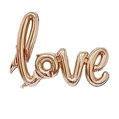 Idea Regalo - NUOLUX LOVE palloncini,Lettera d'amore,41 pollici palloncini in Mylar Palloncino Foil per nozze Decoration(Oro rosa)