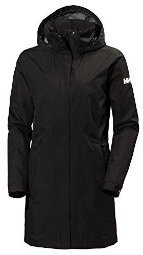 Helly Hansen W Aden Long Coat Jacket, Mujer, Black, XL