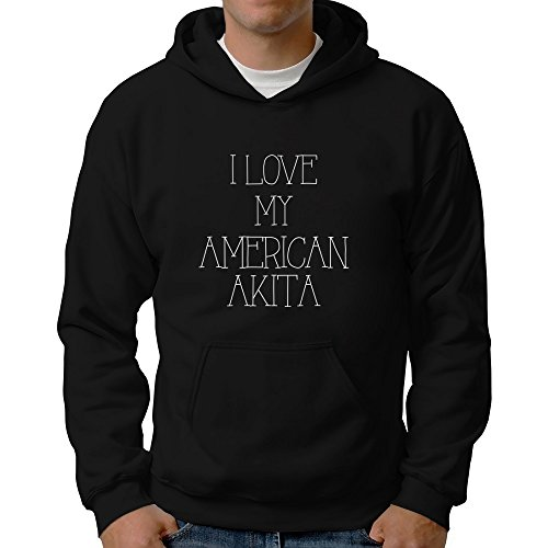 Eddany I love my American Akita Hoodie (Akita Hoodie Herren)