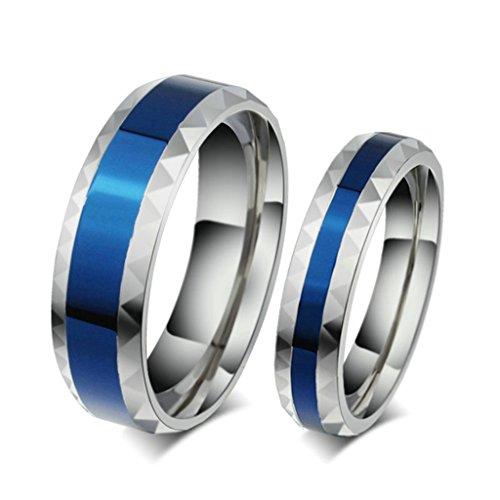 Bishilin 4mm 316l acciaio inossidabile bicolore anello fedine coppia anello di fidanzamento con incisione per uomo misura 12