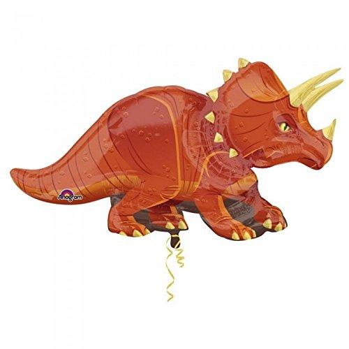 Amscan - Globo con forma de dinosaurio triceratop (Talla Única/Marrón )