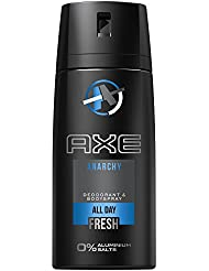AXE Deospray Anarchy for Him ohne Aluminium 150 ml, 3er Pack (3 x 150 ml)