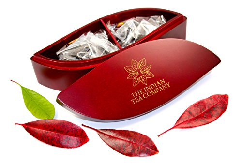 luxurious-and-exclusive-indianteacompany-itc-leaf-shaped-tea-chest-box-mahogany-finish-comes-with-20