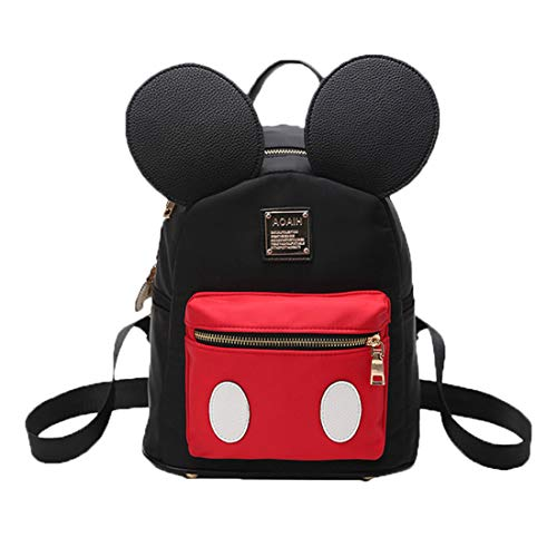 Pteng Mochila Mouse Bolso Mochila Mujer Bolsos Escolar Bolsa de Nylon Elegante Backpack studentesca...
