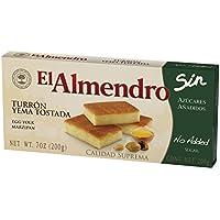 El Almendro Turrón de Yema Tostada sin Azúcares Añadidos. - 200 gr