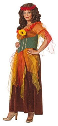 narrenkiste W4325-42 Herbstfarben Damen Wald Fee Feenkleid - Wald Fee Kostüm