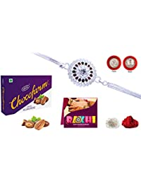 Kiva Special Long Lasting Rakhi, Almond Chocolates, Pooja Coin, Roli, Chawal, Greeting Card, Special Unbreakable Rakhi